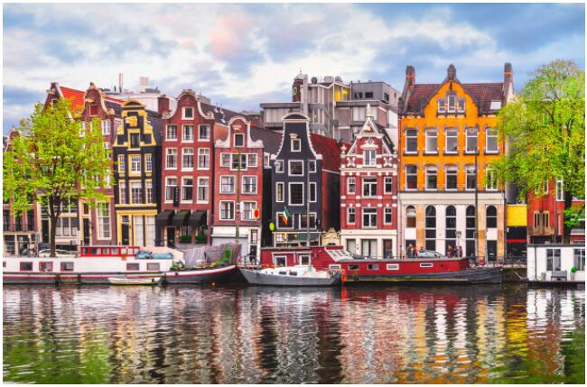 Amsterdam is known for its beautiful canals