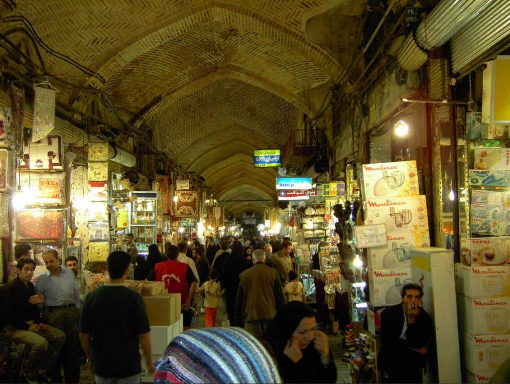 The great bazaar of Tehran Iran